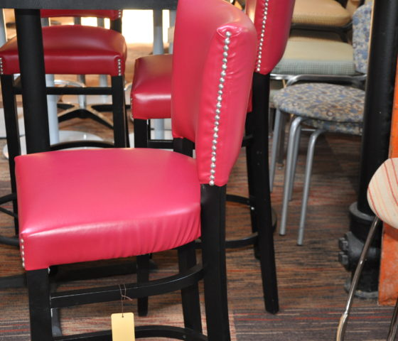 Pink And Black Bar Height Stools Twin Cities Used Office