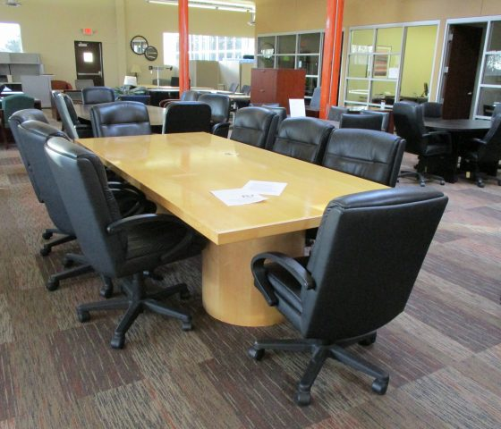 9 Foot Blonde Conference Table Twin Cities Used Office